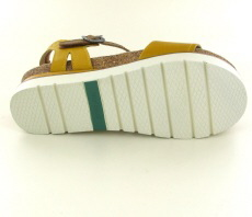 Josef Seibel Clea 01 Yellow Combi Leather Sandal - View 2