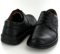 Josef Seibel Walt Black Leather Shoe - View 3