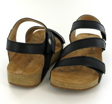 Josef Seibel Tonga 25 Black Leather Sandal  - View 3