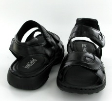 Josef Seibel Debra Black Leather Sandal - View 3