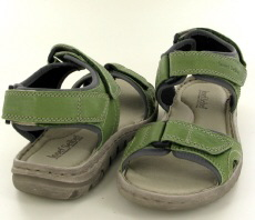 Josef Seibel Lucia 15 Green Leather Sandal - View 3