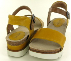 Josef Seibel Clea 01 Yellow Combi Leather Sandal - View 3