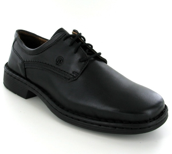 Josef Seibel Talcott Black Leather Shoe