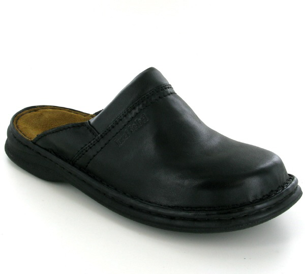 Josef Seibel Max Black Leather Mule