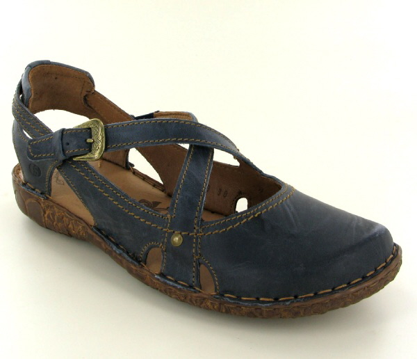 Josef Seibel Rosalie 13 Ocean (Blue) Leather Sandal