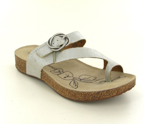 Josef Seibel Tonga 52 Metallic Natural  Leather Sandal