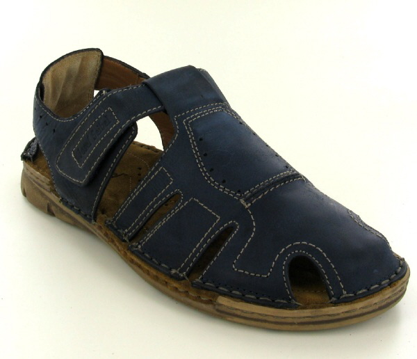 Josef Seibel Paul 07 Blue Leather Sandal