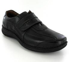 Josef Seibel Alec Black Leather Shoe
