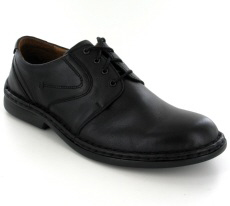 Josef Seibel Walt Black Leather Shoe