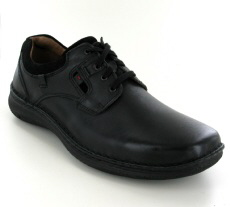 Josef Seibel Anvers 36 Black Leather Shoe - View 1