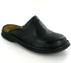 Josef Seibel Max Black Leather Mule - View 1