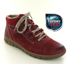 Josef Seibel Steffi Son 13 Red Nubuck Boot