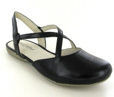 Josef Seibel Fiona 13 Black  Leather Sandal