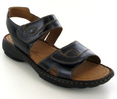 Josef Seibel Debra Ocean (Blue) Leather Sandal