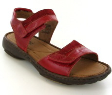 Josef Seibel Debra 19 Red Leather/Suede Sandal
