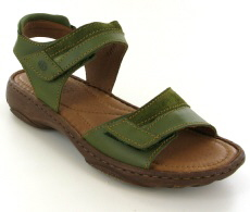 Josef Seibel Debra 19 Olive Leather/Suede Sandal