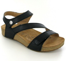 Josef Seibel Tonga 25 Black Leather Sandal  - View 1