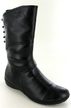 Josef Seibel Naly 07 Black Leather Mid Calf Boot
