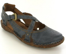 Josef Seibel Rosalie 13 Jeans (Blue) Leather Sandal