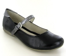 Josef Seibel Fiona 25 Black Leather Shoe