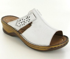 Josef Seibel Catalonia 32 White Leather Mule