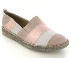 Josef Seibel Sofie 23 Nude Multi Leather/Nubuck Shoe