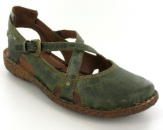 Josef Seibel Rosalie 13 Olive Leather Sandal
