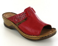 Josef Seibel Catalonia 32 Red Leather Mule
