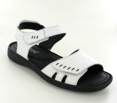 Josef Seibel Lisa 01  White Leather Sandal