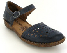 Josef Seibel Rosalie 19 Blue Leather Sandal