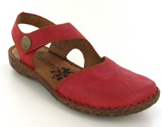 Josef Seibel Rosalie 27 Red Leather Sandal