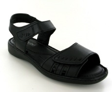 Josef Seibel Lisa 01 Black Leather Sandal