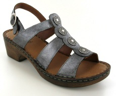 Josef Seibel Rebecca 55 Basalt Leather Sandal