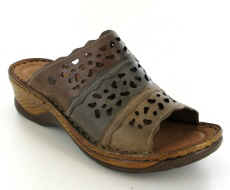 Josef Seibel Catalonia 60 Brown  Multi Leather Mule