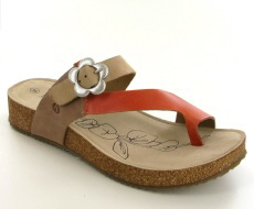 Josef Seibel Tonga 23 Coral Multi Suede/Leather Toe-Post
