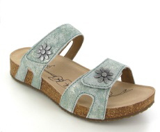 Josef Seibel Tonga 04 Mint Leather Sandal