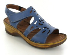 Josef Seibel Catalonia 56 Kobalt Leather Sandal