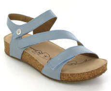 Josef Seibel Tonga 25 Blue Leather Sandal