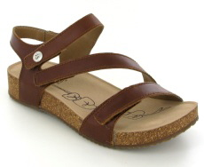 Josef Seibel Tonga 25 Camel Leather Sandal