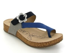 Josef Seibel Tonga 23 Blue Multi Suede/Leather Toe-Post