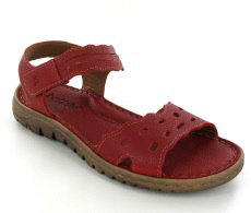 Josef Seibel Lucia 07 Red Leather Sandal