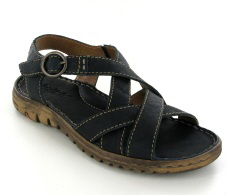 Josef Seibel Lucia 01 Blue Leather Sandal