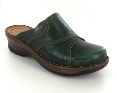 Josef Seibel Catalonia 68 Green Leather Mule