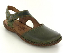 Josef Seibel Rosalie 27 Olive  Leather Sandal