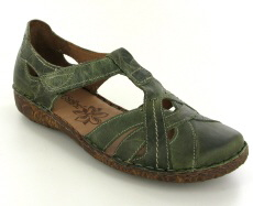 Josef Seibel Rosalie 29 Olive Leather Shoe - View 1