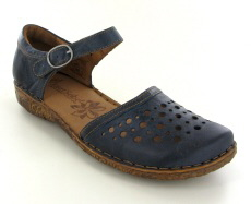 Josef Seibel Rosalie 19 Blue Leather Shoe