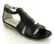 Josef Seibel Fabia 03 Black Leather Sandal