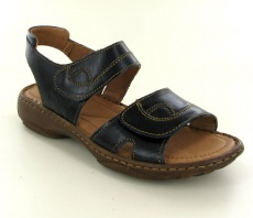 Josef Seibel Debra Blue Leather Sandal