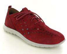 Josef Seibel Malena 09 Red Leather Shoe - View 1
