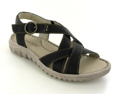 Josef Seibel Lucia 01 Black Leather Sandal